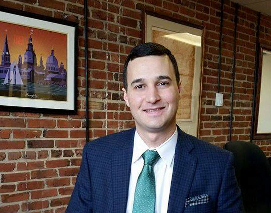 Annapolis Mayor Mike Pantelides in his office