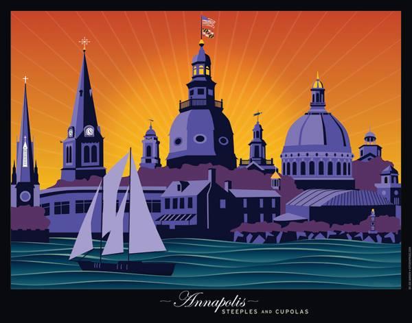 """Annapolis, Steeples and Cupolas  "" by Joe Barsin"
