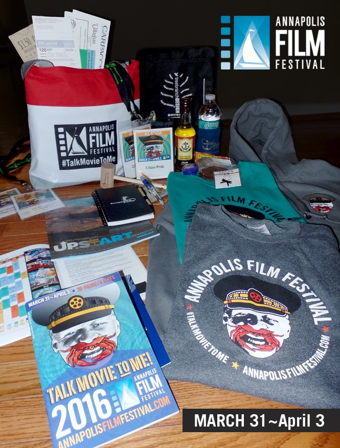 2016 Annapolis Film Festival identity and swag created by joe barsin