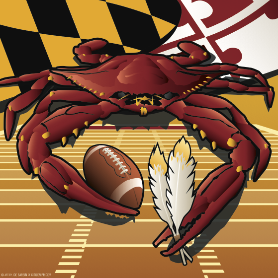 New redskins crab tables & cornhole!