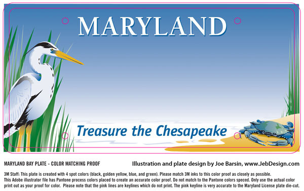 Final illustration file used to produce the Maryland license plates