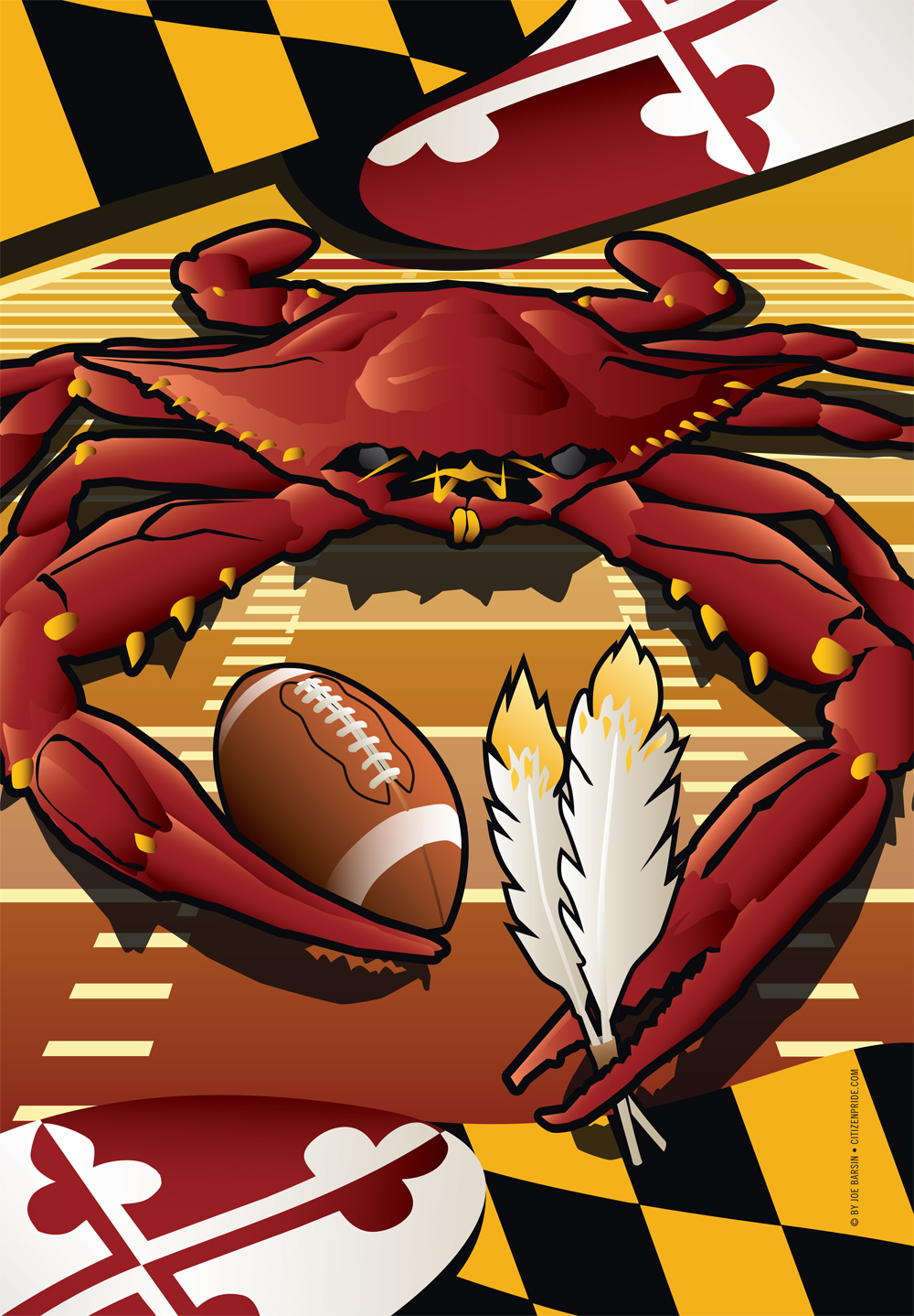Redskins Sports Crab of Washington