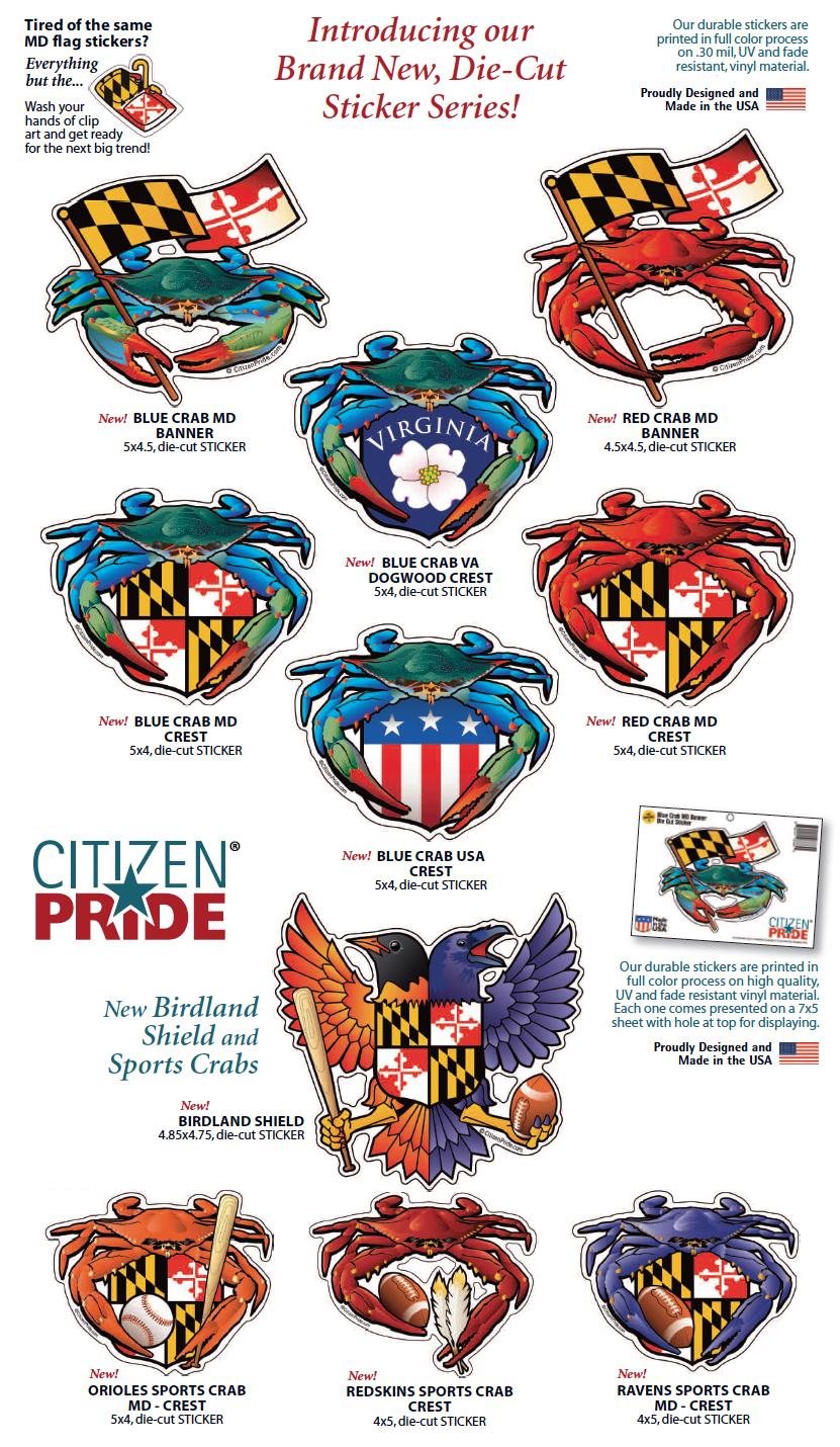 Brand new vinyl die cut citizen pride stickers joe for Brand consultant