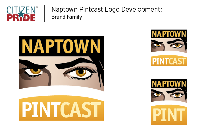 Naptown Pint and Naptown Pintcast Logo by Joe Barsin of Citizen Pride / JEB Design, Inc.