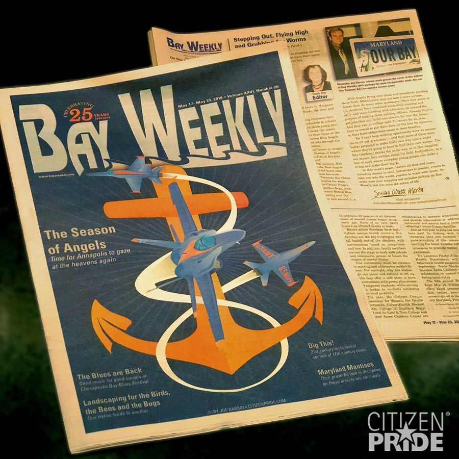 Read article on Joe Barsin's cover illustration and his work on the Maryland Bay Plate