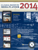 USNI 2014 Media Planner. Designed by JEB Design, as well.