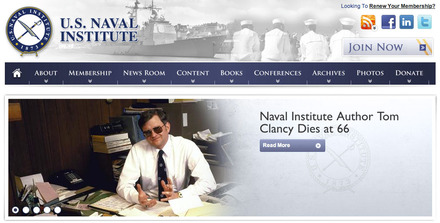 USNI.com identity and tribute to Tom Clancy