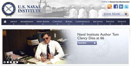 USNI.com identity and tribute to Tom Clancy