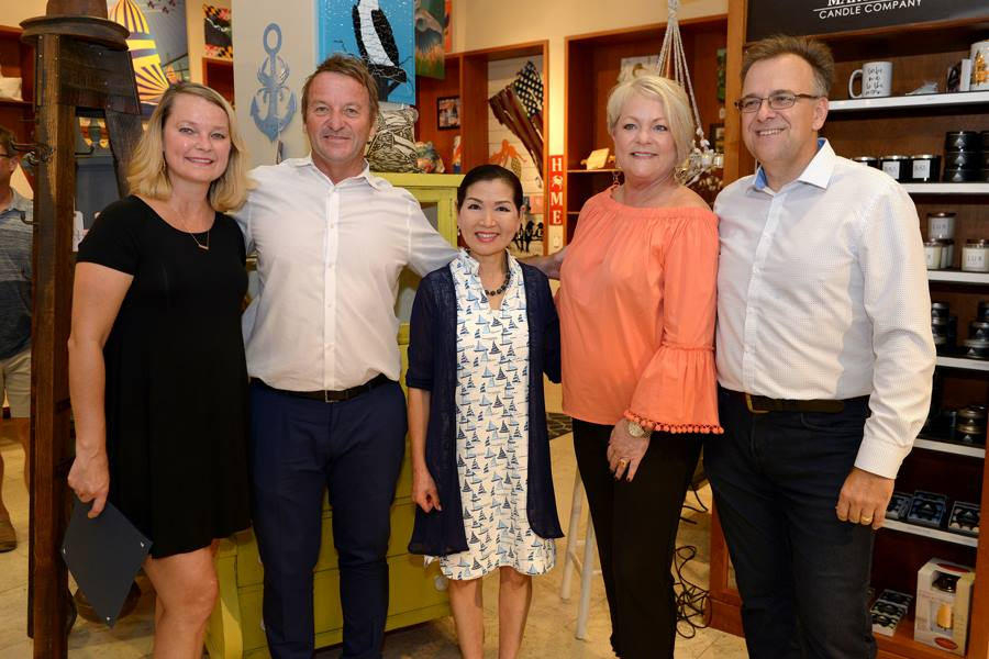 L-to-R: Suzi Jett (Local by Design Co-Owner), Annapolis Mayor Gavin Buckley, Maryland's First Lady Yumi Hogan, Susan Sears (Local by Design Co-Owner) and Joe Barsin (Citizen Pride)