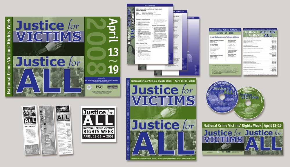 The  2008 National Crime Victims' Rights Week Poster  and samples of supporting graphics by  Joe Barsin