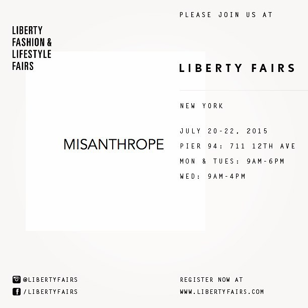 MISANTHROPE SS16 ILITH showing at LIberty Fairs NYC @misanthrope_agency @libertyfairs