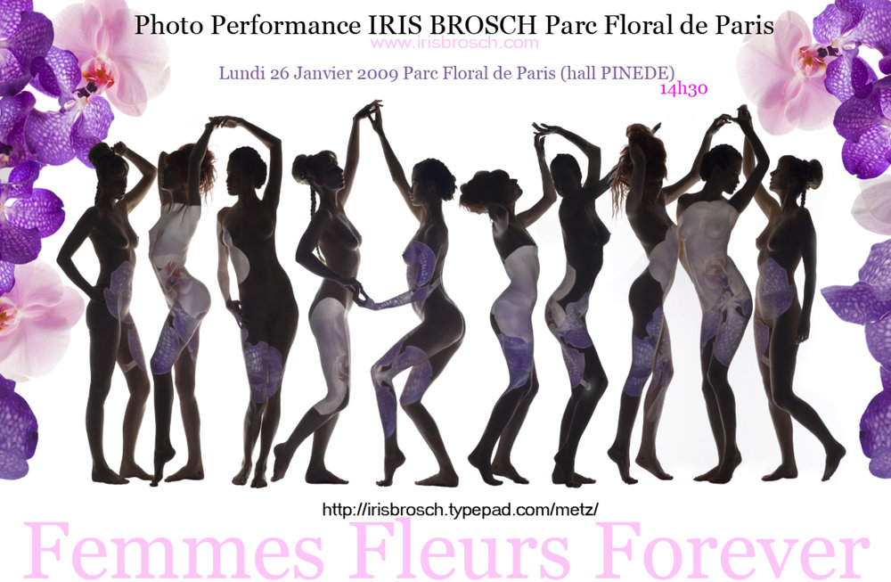 Original Invitation used for the performance Femmes Fleurs Forever