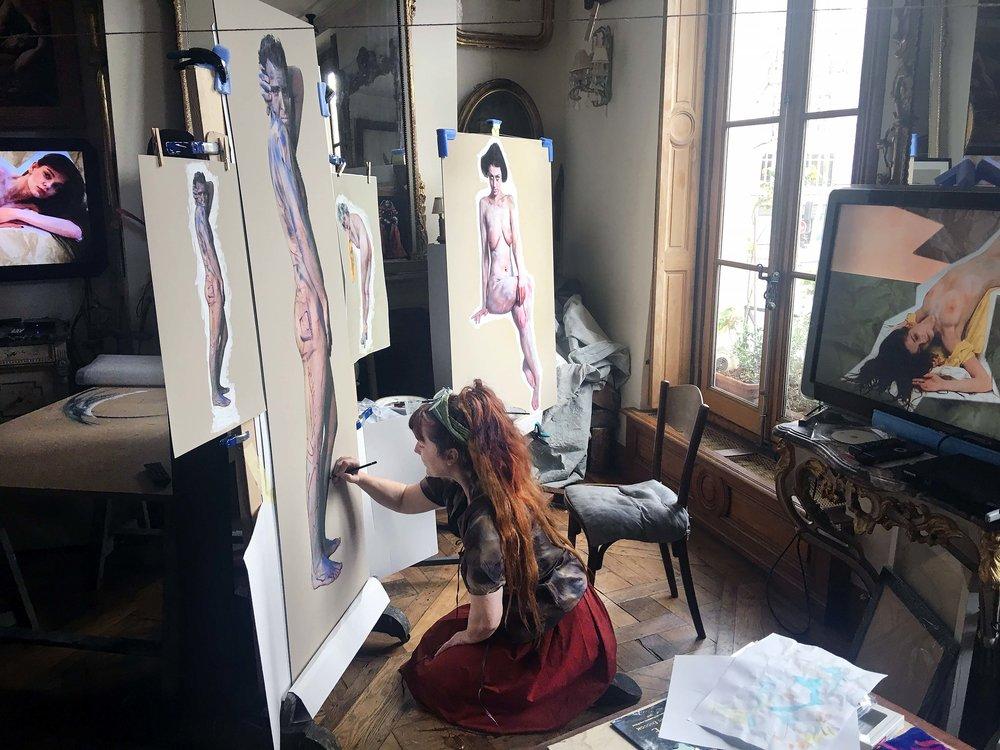 Iris BROSCH in her Paris Atelier