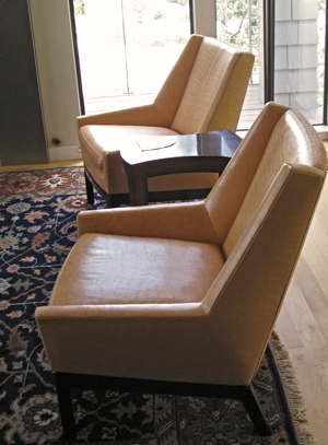 Living room - leather lounge chairs
