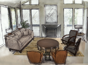 Living-room-drawing