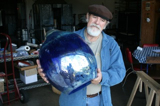 Rob Adamson and glass globe