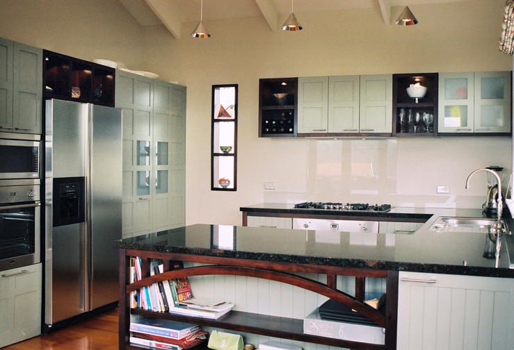 Contemporary kitchen for a bungalow.