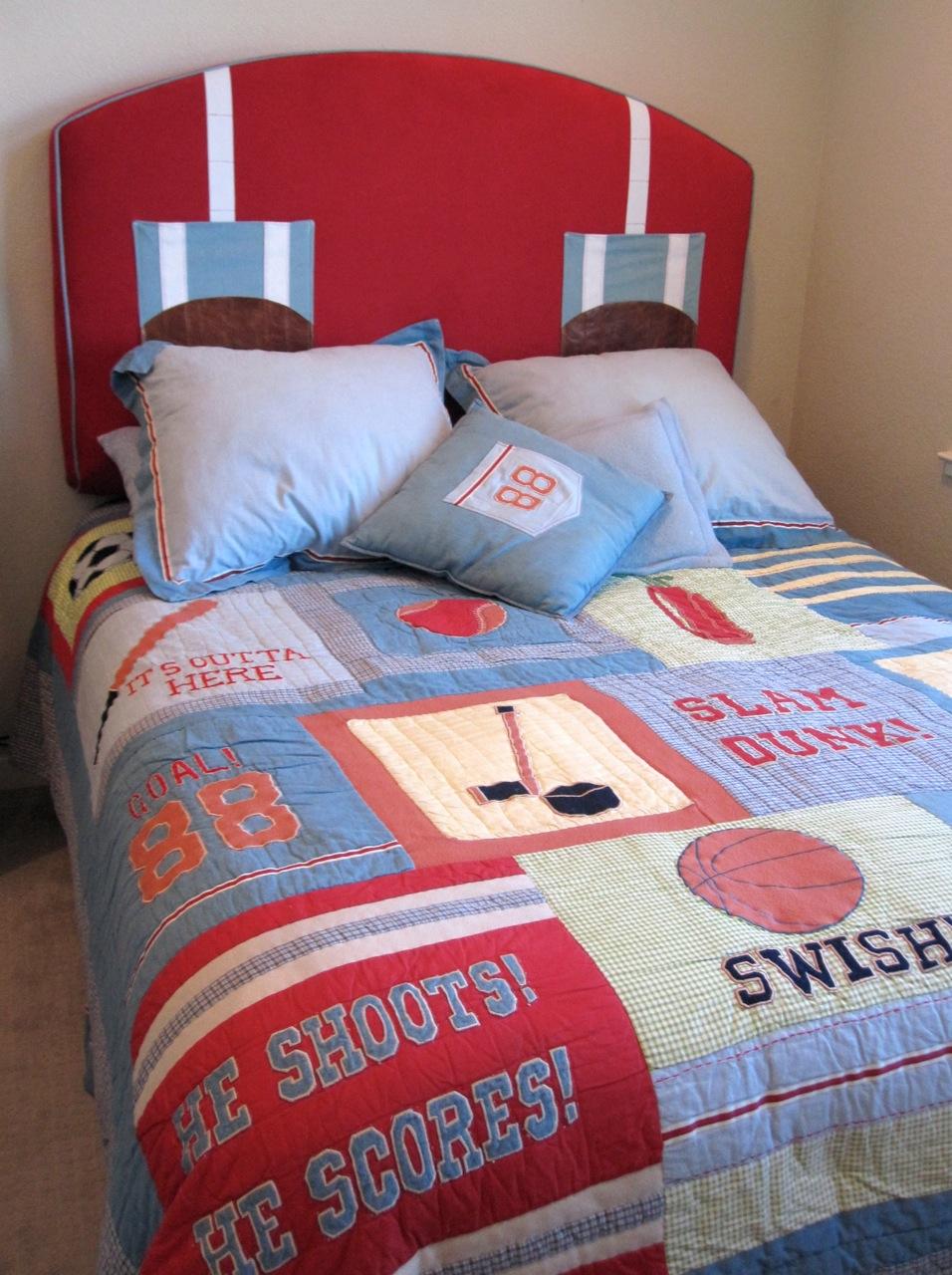 Upholstered Headboard For A Boys Bedroom Penelope Jones Design