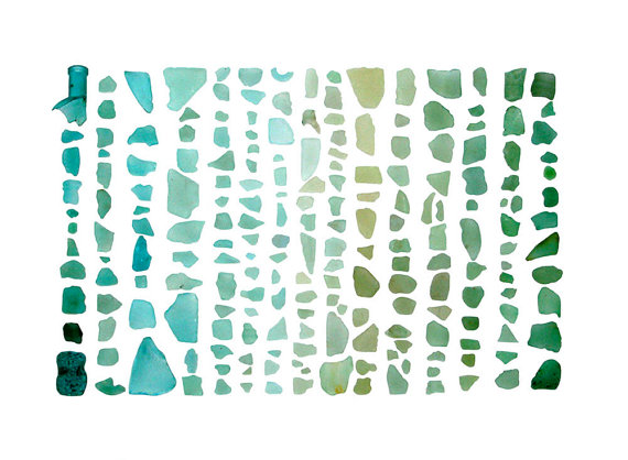 I purchasedthe art print abovefromthe Quercus Design Esty Shop recently (an artist from Bay Harbor, Maine).I find her nature photo prints calming, creative and inspiring, and this sea glass print fit perfectly in my apartment, which has a lot of ocean-inspired decor (I've noticed I enjoydecorating my apartment as a sort of oasis completely different from the city I call home!) Check out Quercus Design here: http://www.etsy.com/shop/QuercusDesign