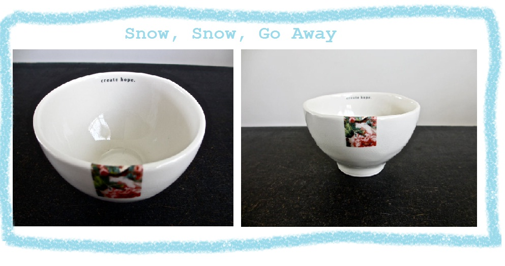 It's snowing in New York City today. As I sit high in the sky looking out my office window at the falling large white flakes, I want nothing more than to be slurping soup out of a delicious cup of warm soup in a bowl that gives me hope that spring will get here soon!
