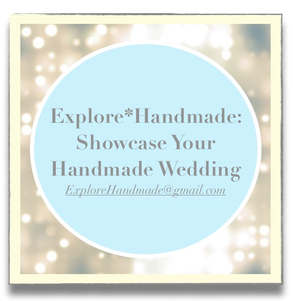 I'm excited to announce the second submission opportunity for Explore*Handmade readers: Showcase Your Handmade Wedding. Do you have photos of handmade goods that you included in or wore at your wedding that you would love to share? If so, E*H would very much like to showcase how you used, wore or displayed such goods on your big day for E*H's readers. If you are interested, please e-mail the information below to ExploreHandmade@gmail.com. Submissions will be reviewed by E*H for consideration as featured Handmade Wedding posts in the future: * Your name (first name is fine, if you prefer) and location. * Photos of the handmade item you, honest to goodness, loved in your wedding (please send in .jpeg format). Ideally, you would send a few photos of the item, if available, and include some wider photo shots showing where it was in your wedding. Quality of photos is one of the key factors for any feature. * Please provide some details about the item (including the shop you purchased it from, if not handmade by you, and when you bought it). Also, please briefly explain what makes it special to you, and why it would make an excellent feature on E*H. * You can also include information about the style of your wedding, the location and your inspiration (including photos if you would like). If you are affiliated with a handmade goods shop or a blog, please also include this information as it may accompany the post. Thank you, and I look forward to hearing about your favorite handmade wedding goods and sharing them with the Explore*Handmade community! More submission opportunities will follow this winter, and if you missed the Showcase Your Handmade Home submission post, check that out as well as submissions are accepted on an ongoing basis.