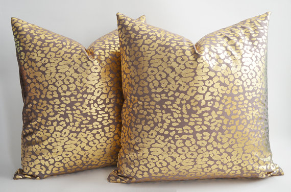 Leopard Gold Pillow, starting at $35.00