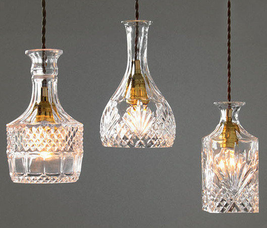 Glass Decanter Bottle Pendant Light, starting at $109.00
