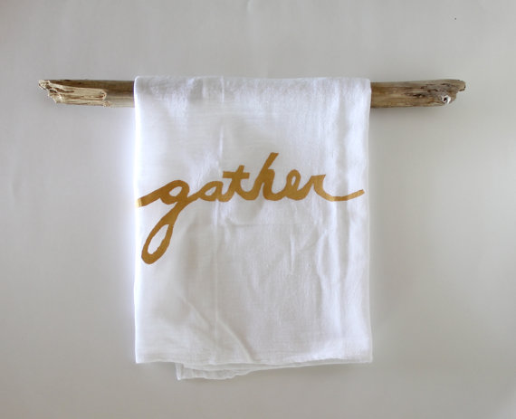 Gather Hand Printed Kitchen Towel, starting at $15.00