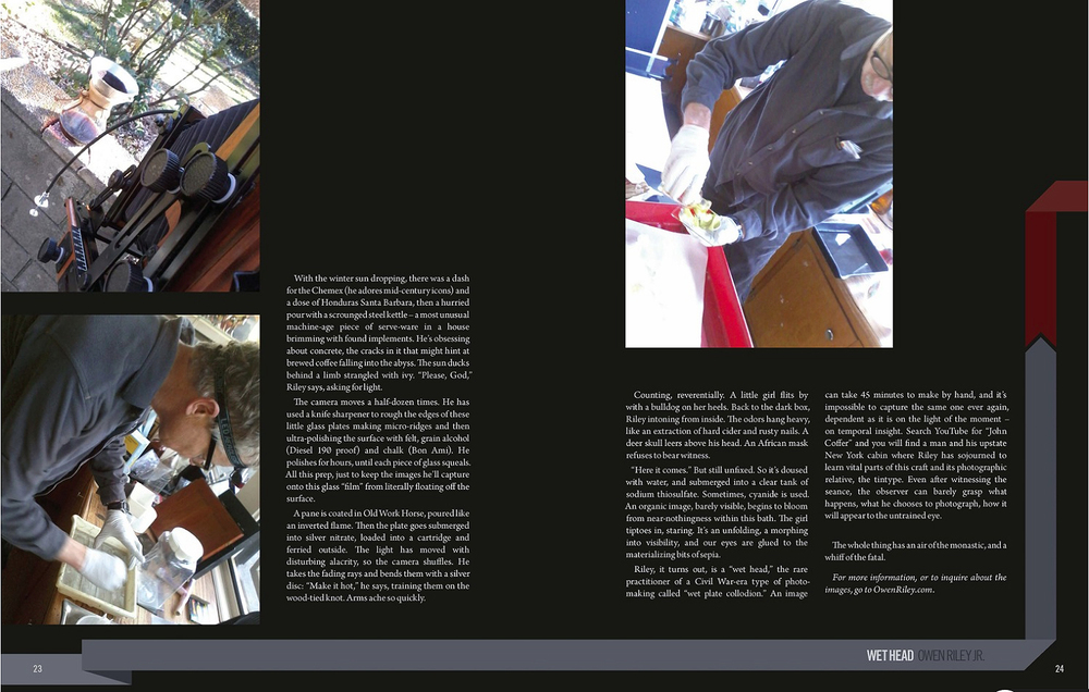 Page from the  2014 edition of Longberry Magazine published in London, England  www.longberrypress.com