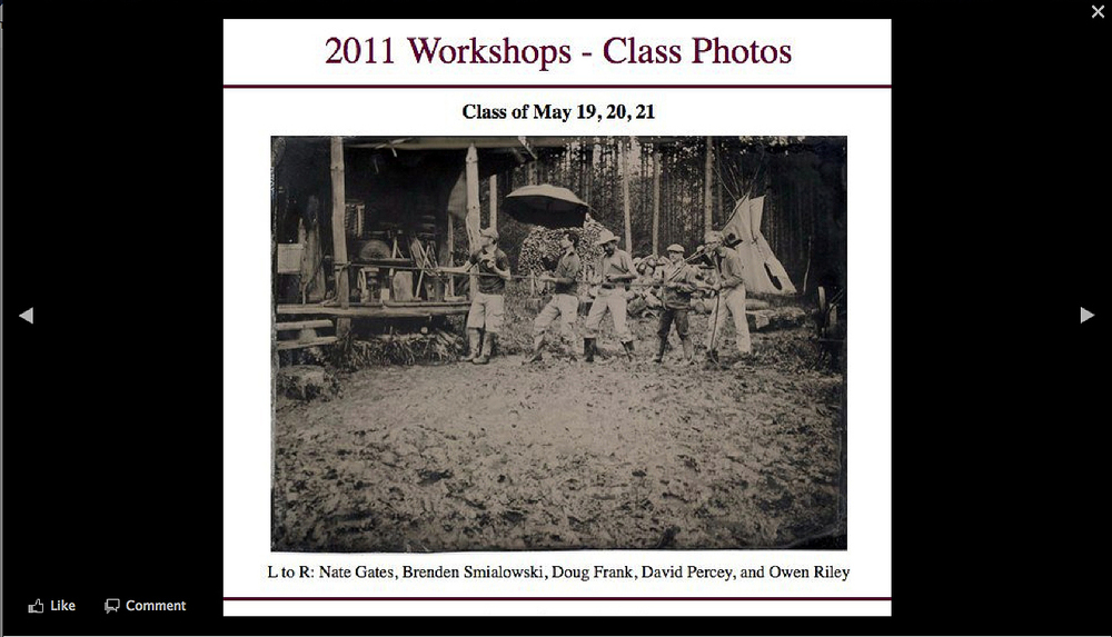 My fellow students and I in the mud at Camp Tintype with John Coffer in 2011