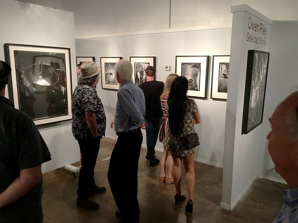 """Owen Riley - Selected Works.""  Solo Show         Opening night The Southeast Center for Photography, Greenville, S.C.  September 2016"