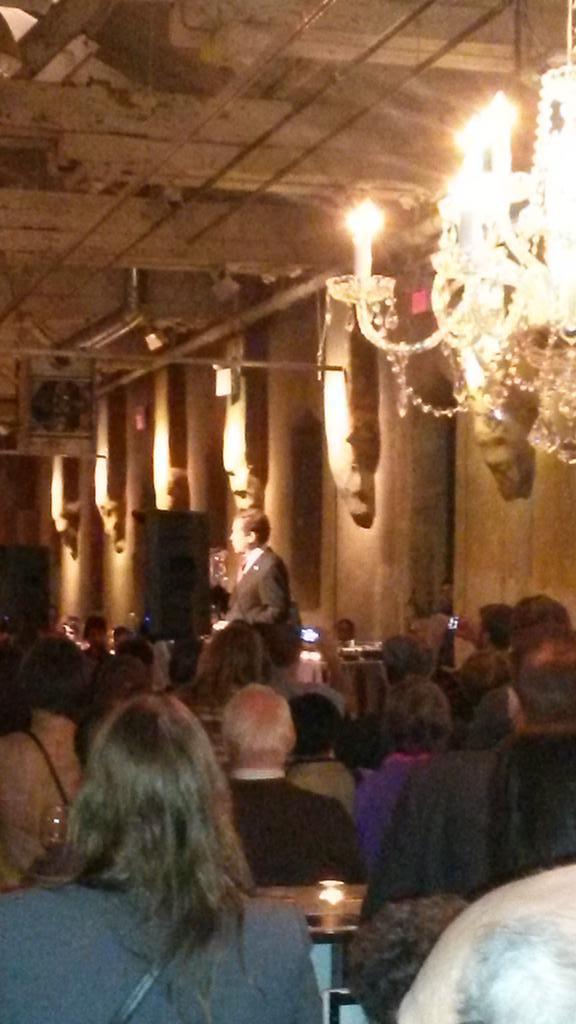 John Tory speaking to crowd.
