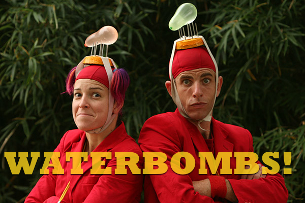 A HYSTERICAL WATER BALLOON GLADIATOR SHOW  with comic antics, flying water balloons, and loud opera music.  USING NO WORDS,  Seth and Christina deliver a gut-busting, interactive show that has thrilled crowds in 23 countries. An audience and press favorite around the globe.  VENUE: Outdoor Festivals