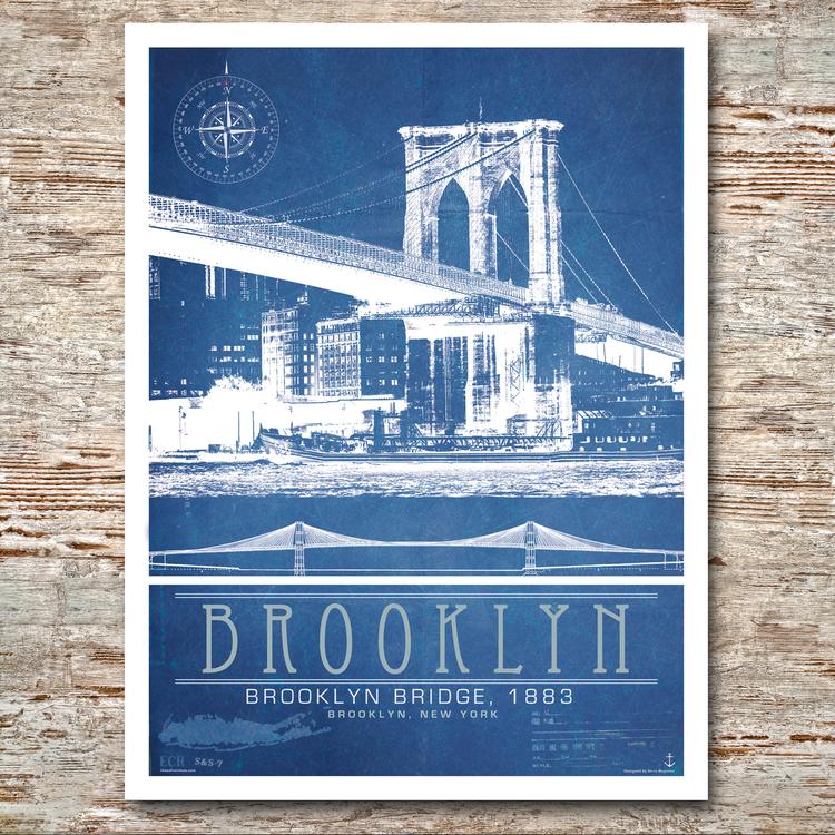 Brooklyn the brooklyn bridge 18x24 the salt sea brooklynbridgeg malvernweather Choice Image