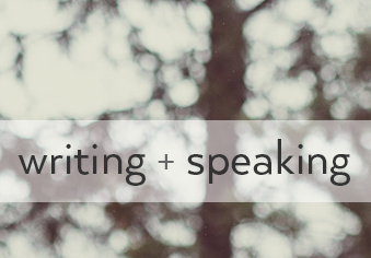 writing + speaking