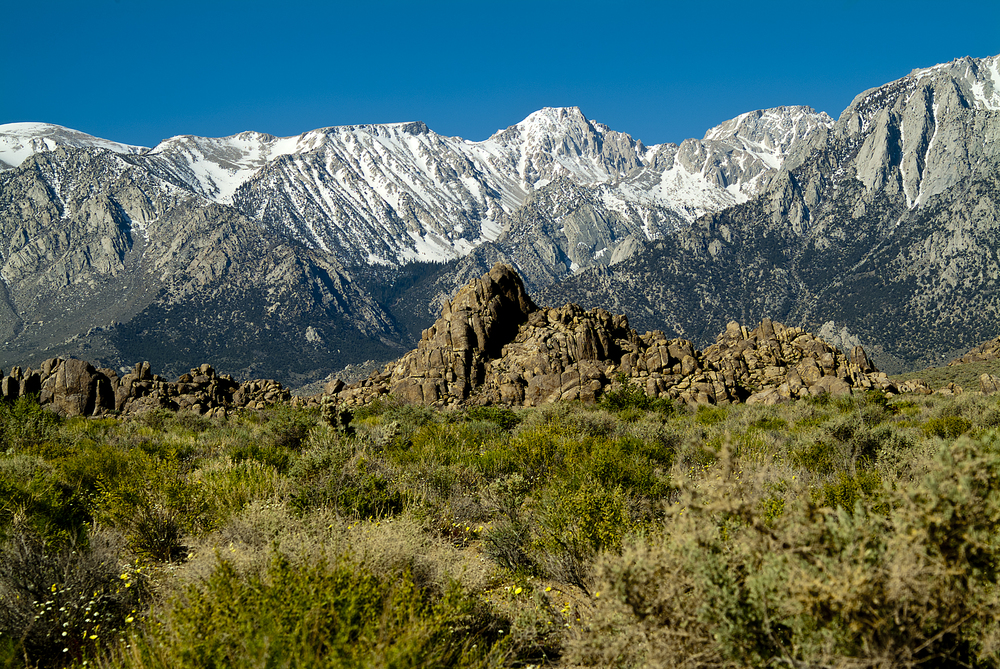 Alabama Hills above Lone Pine, CA