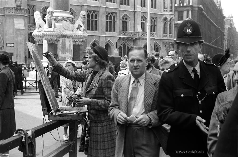 Artist in London, 1950