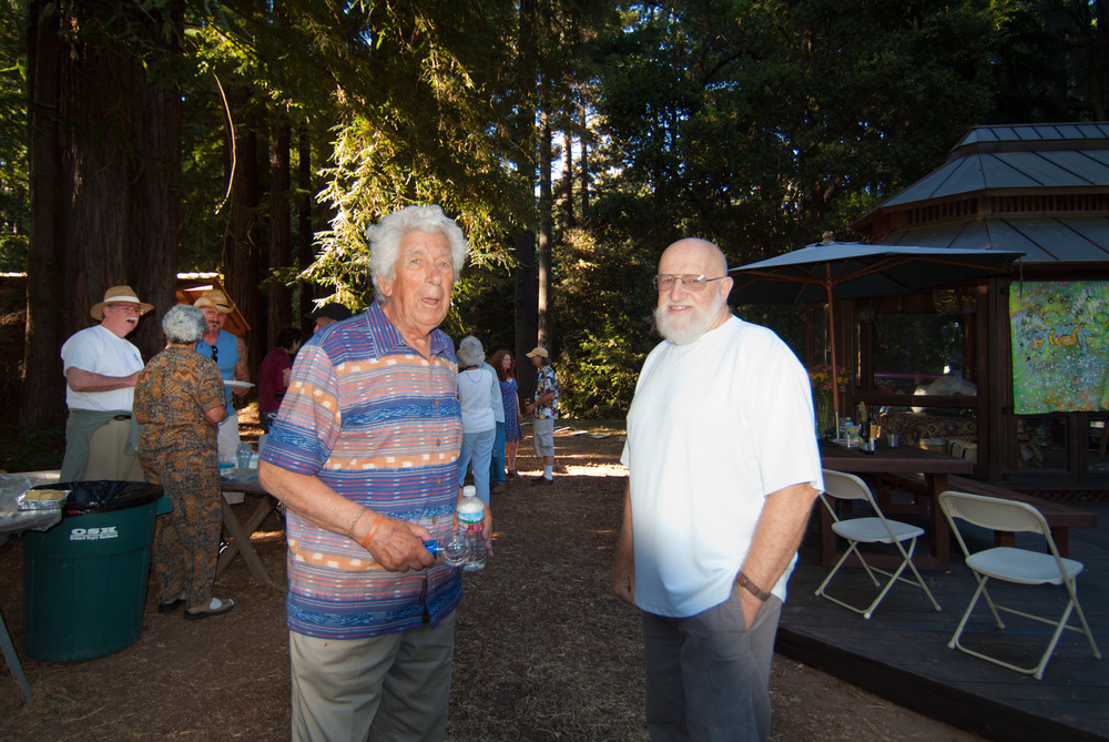 Lars Speyer with  Bob Kinsey, potter