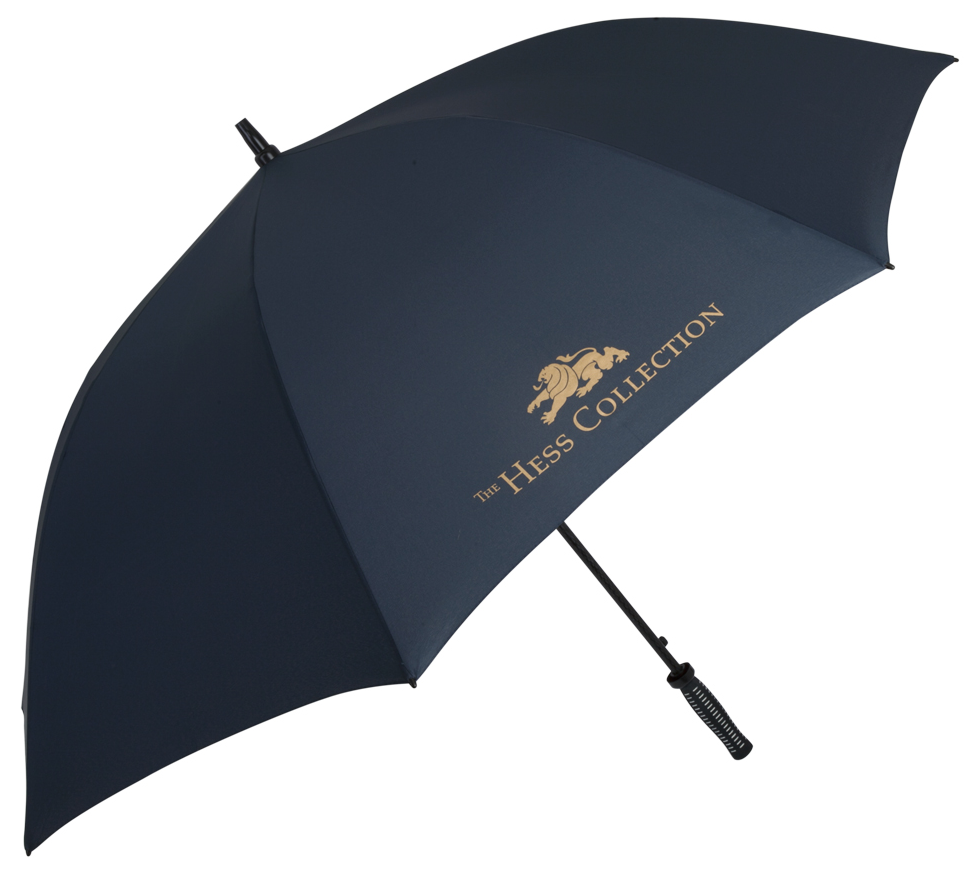 Concierge Golf Umbrella (item #2088)  sample printed with THE HESS COLLECTION logo