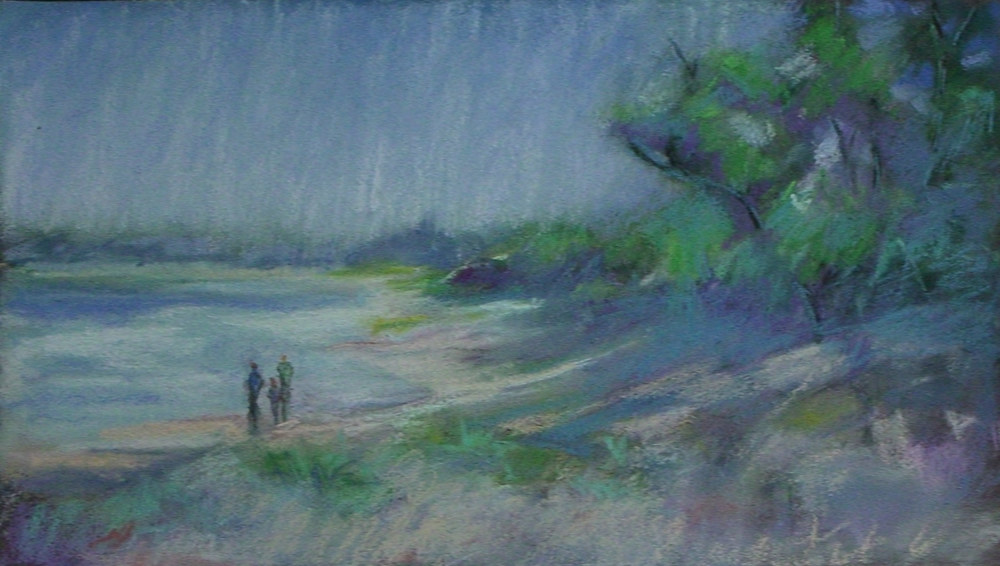 """Cape Girardeau River Front  10"""" X 14""""  Pastel"""
