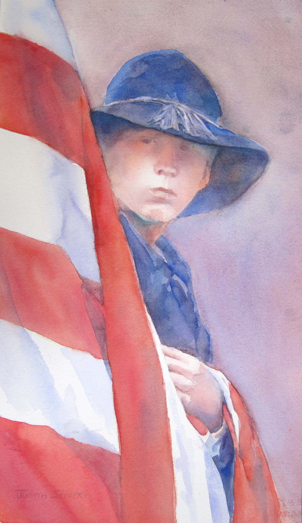 "Love and Commitment  Civil War Series  14"" X 22""  Watercolor"