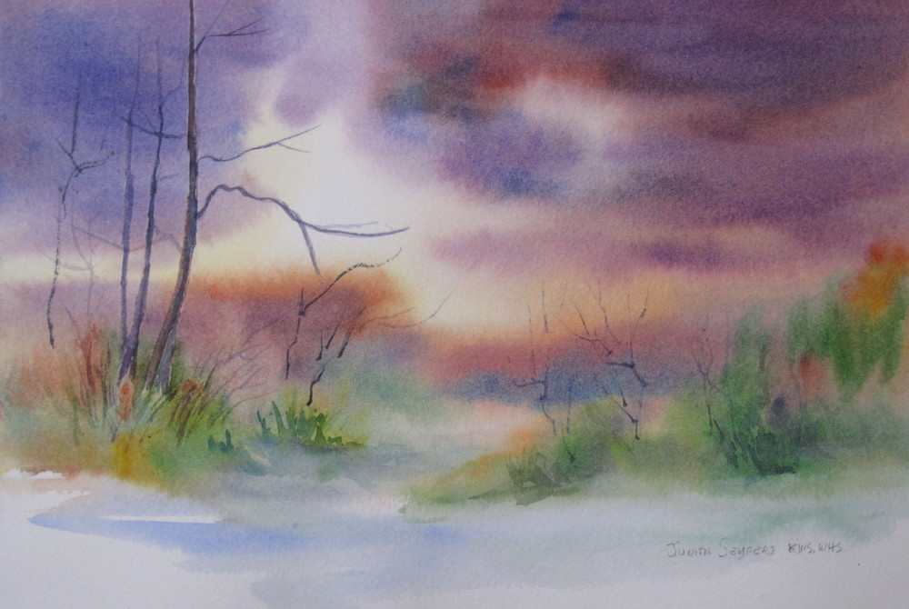 "After the Storm  7.5"" X 11  Watercolor"