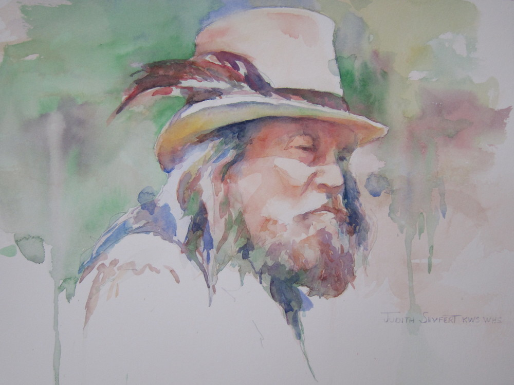 "Uncle Mike  11"" X 15""  Watercolor"