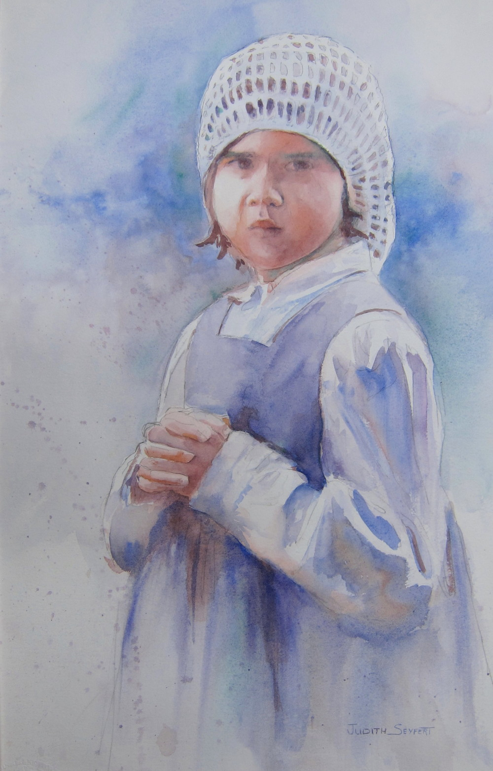 "Prayers for Daddy  Civil War Series  22"" X 15""  Watercolor"