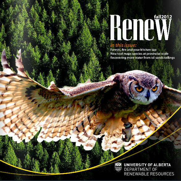 Renew- The newsletter of the Department of Renewable Resources, U of A