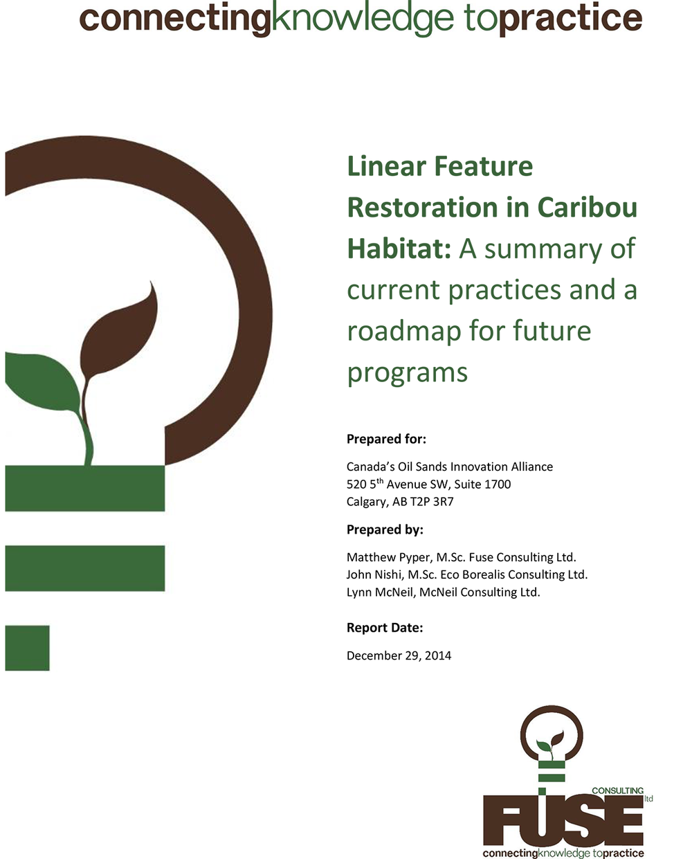 Caribou Restoration Alberta