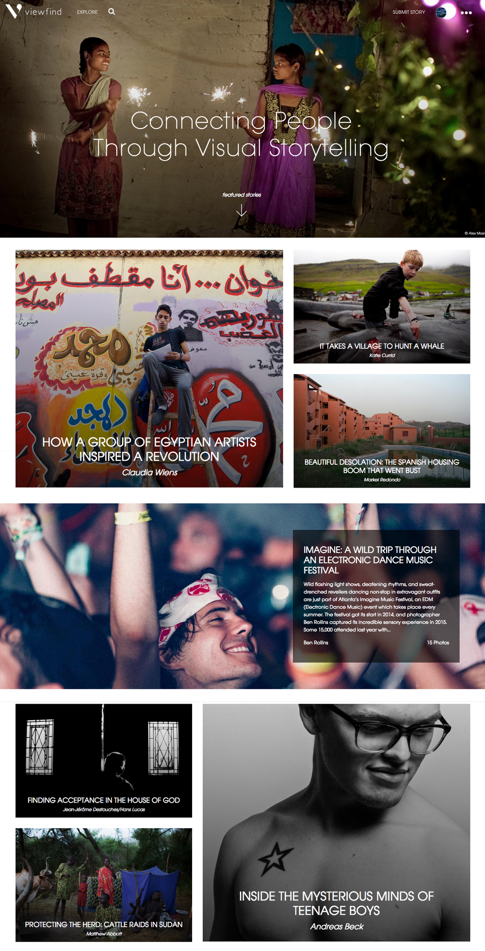 Frontpage of ViewFind.com - January 2016