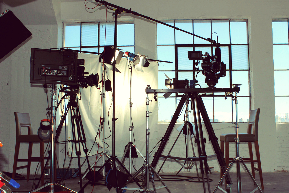 Two camera interview setup.