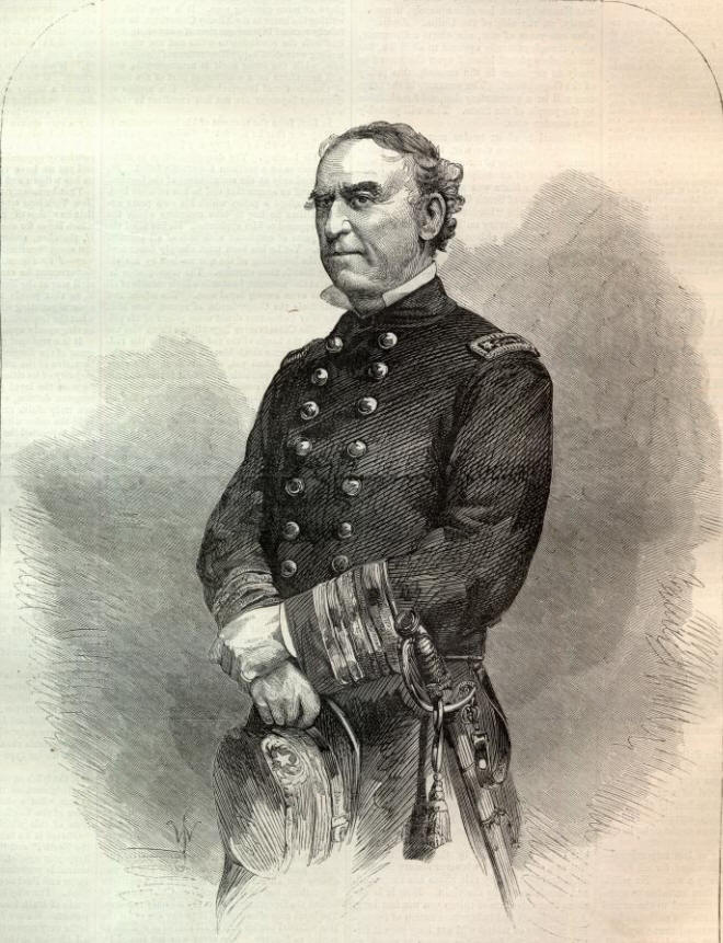 Rear-Admiral David G. Farragut, U.S.N- Photographed by Matthew Brady. Photo courtesy of the Son of the South; originally published in Harper's Weekly