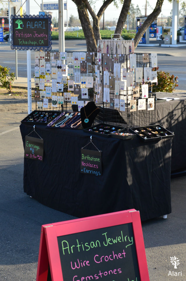 Alari Designs Jewelry at the Valley Farmers Market in Bakersfield